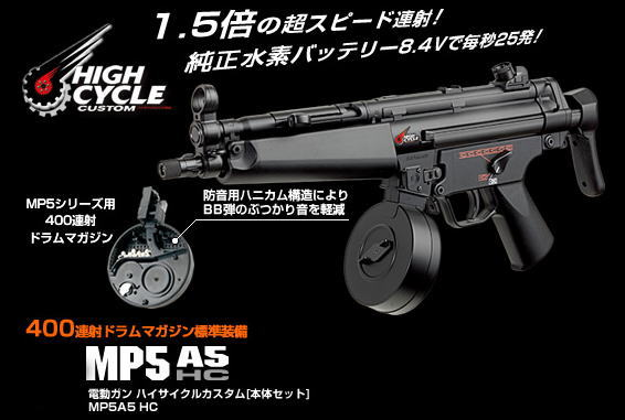 東京マルイ:MP5A5 ハイサイクル