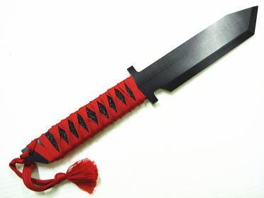 アクセサリーナイフ 和風編み 赤