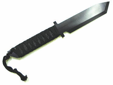 アクセサリーナイフ 和風編み 黒
