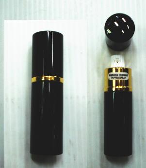 口紅型 ペッパースプレー(BK)